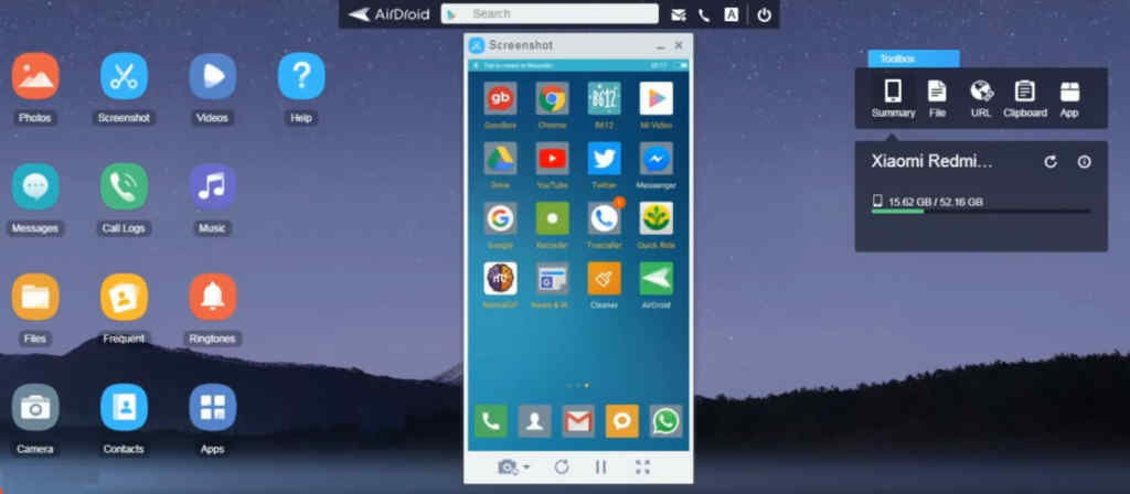 mirror your android phone on pc